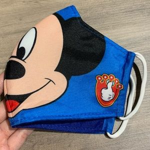 NWOT Blue Mickey Face Mask
